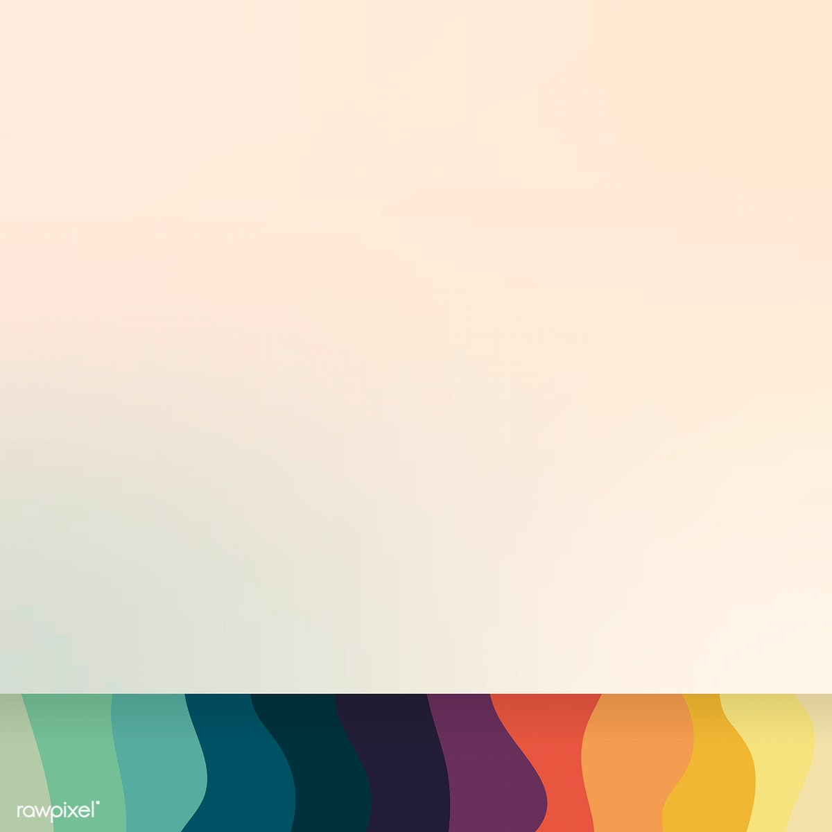 Download premium image of Mockup colorful wave pattern background vector