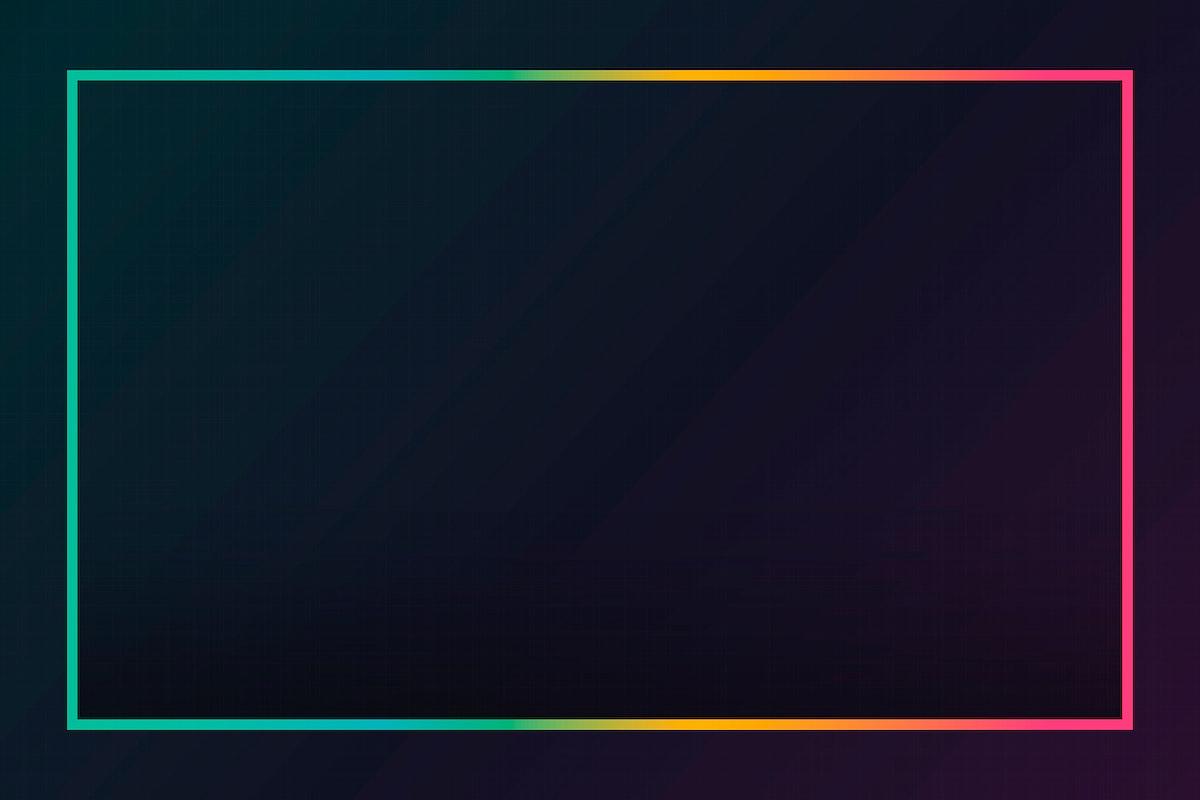 Gradient border black background vector