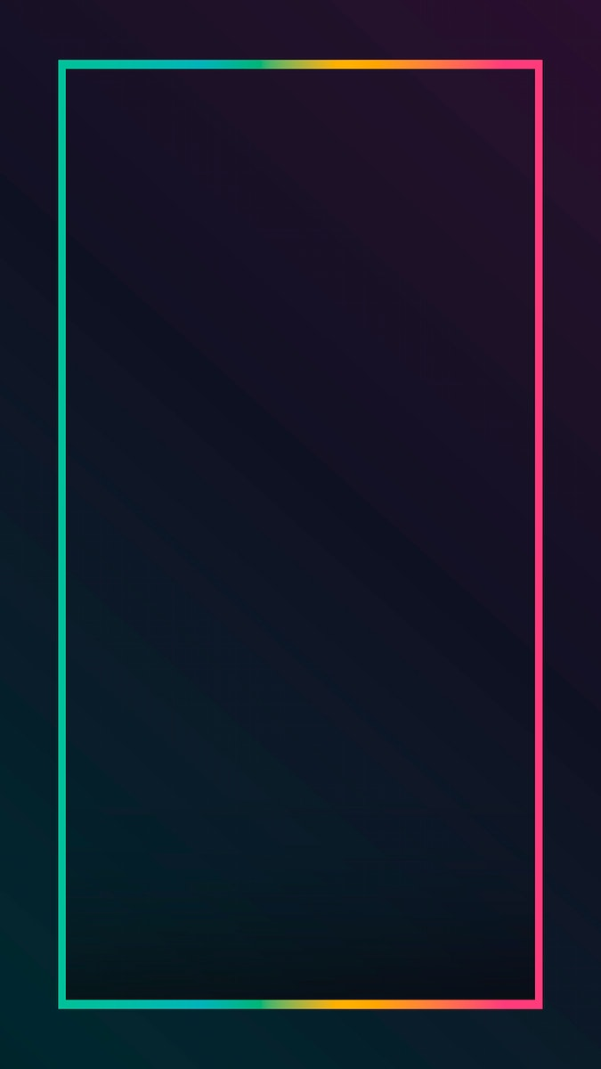 Gradient border black mobile phone wallpaper vector