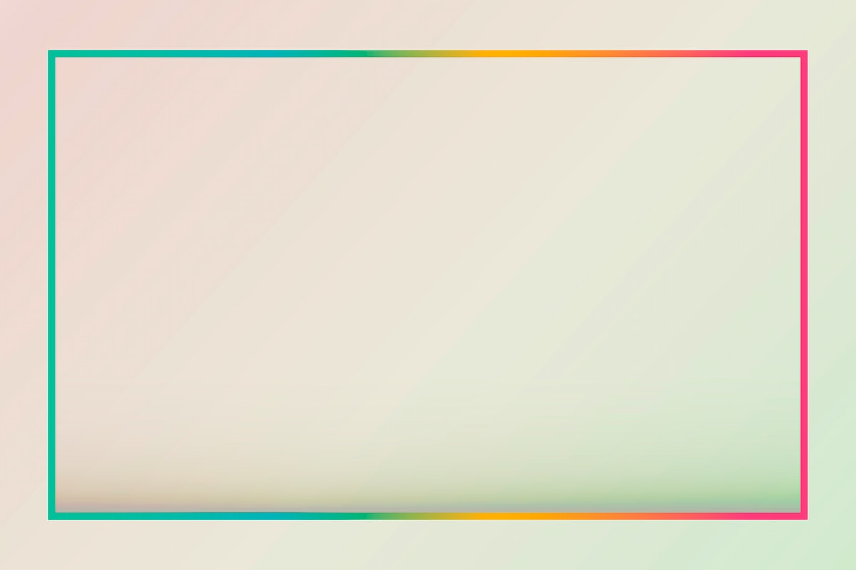 Gradient border background vector