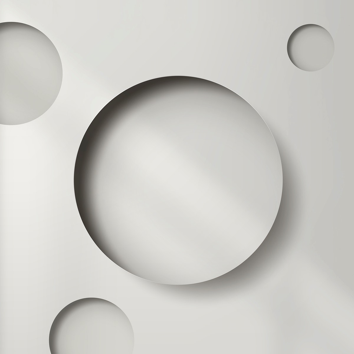 Gray paper notched out round with drop shadow pattern background vector