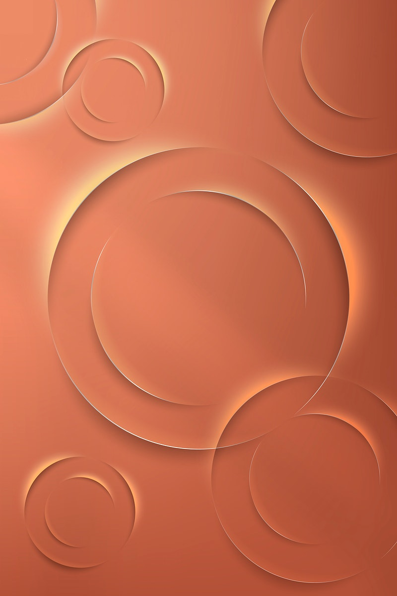 Orange circles with drop shadow pattern background vector