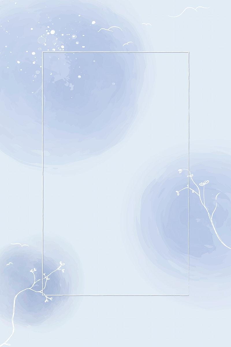 Blue floral frame design vector