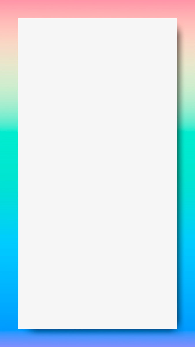 Pastel blue and green holographic pattern frame mobile phone wallpaper vector