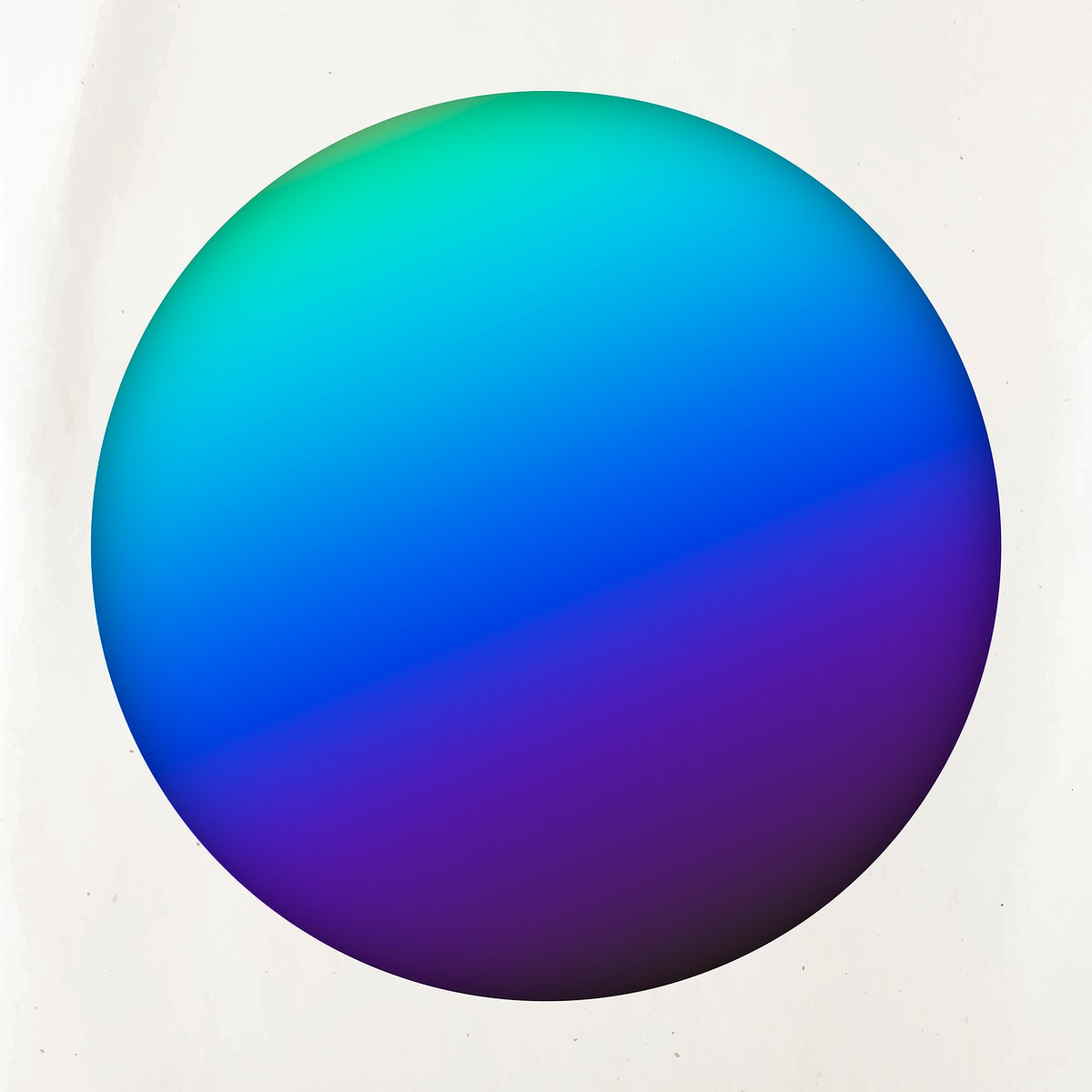 Round blue and purple holographic pattern background vector