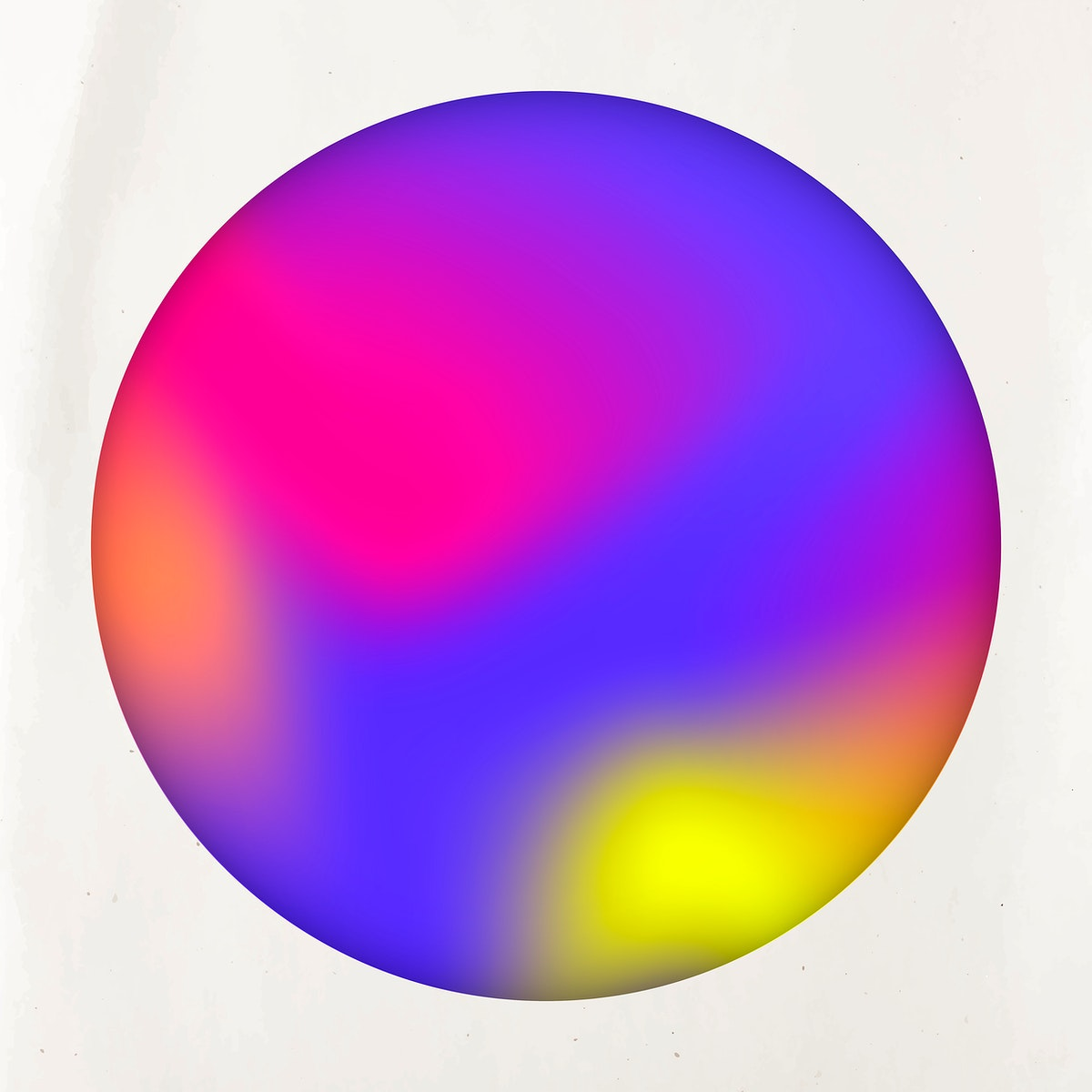 Round blue and purple holographic pattern frame vector