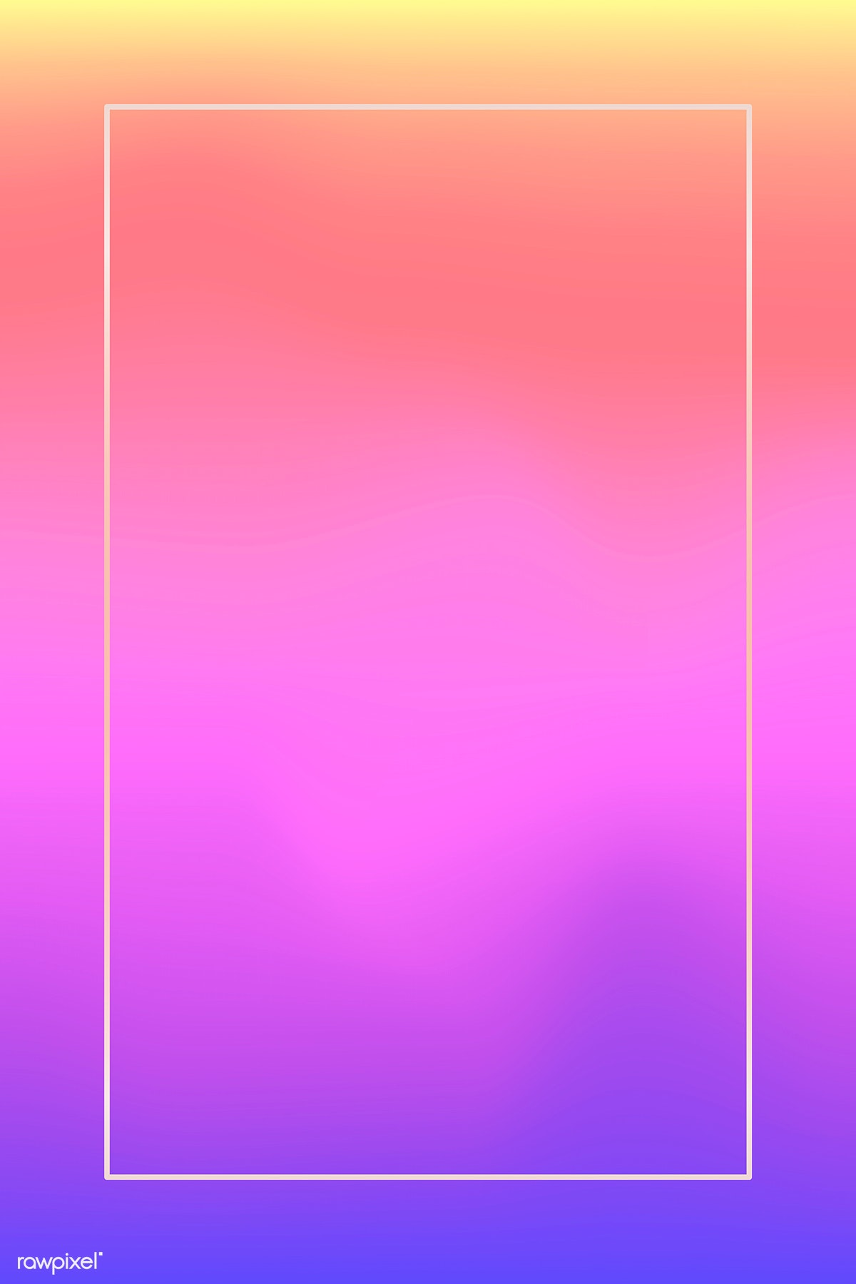 Download premium image of white frame on holographic pattern background
