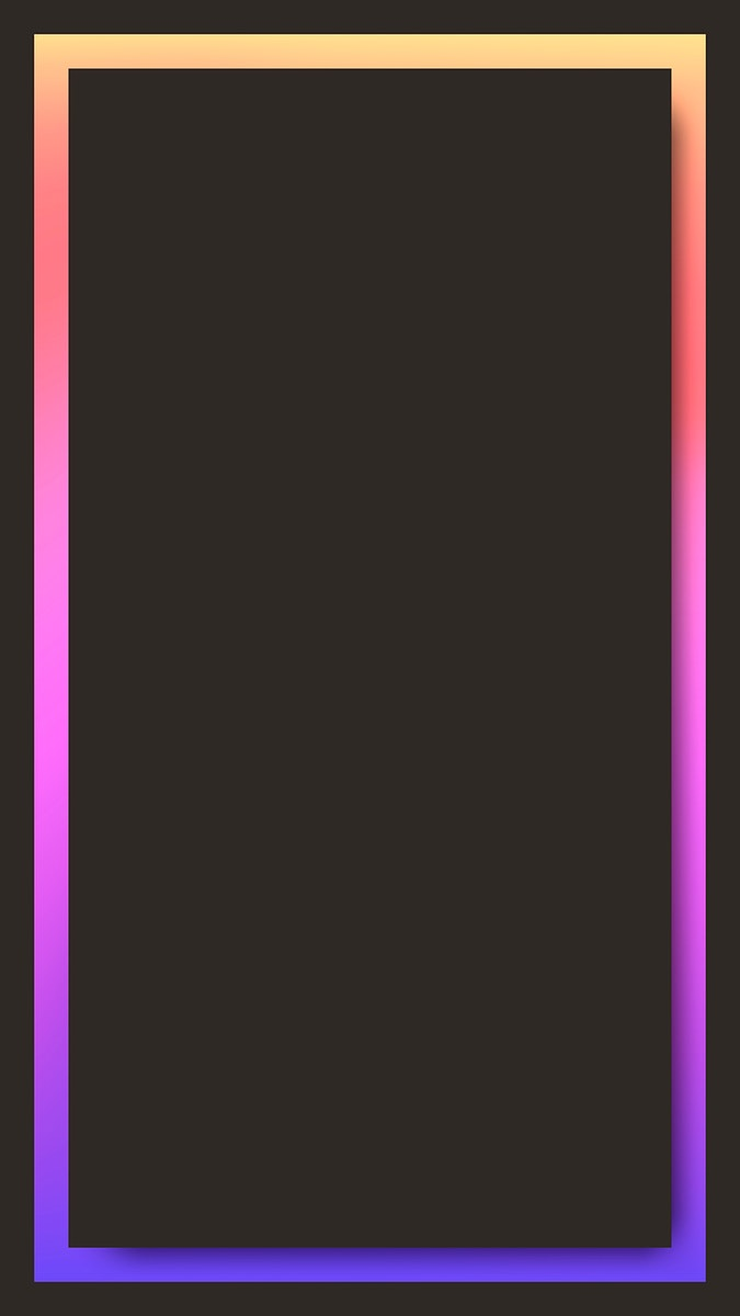 Pink and orange holographic pattern mobile phone wallpaper vector