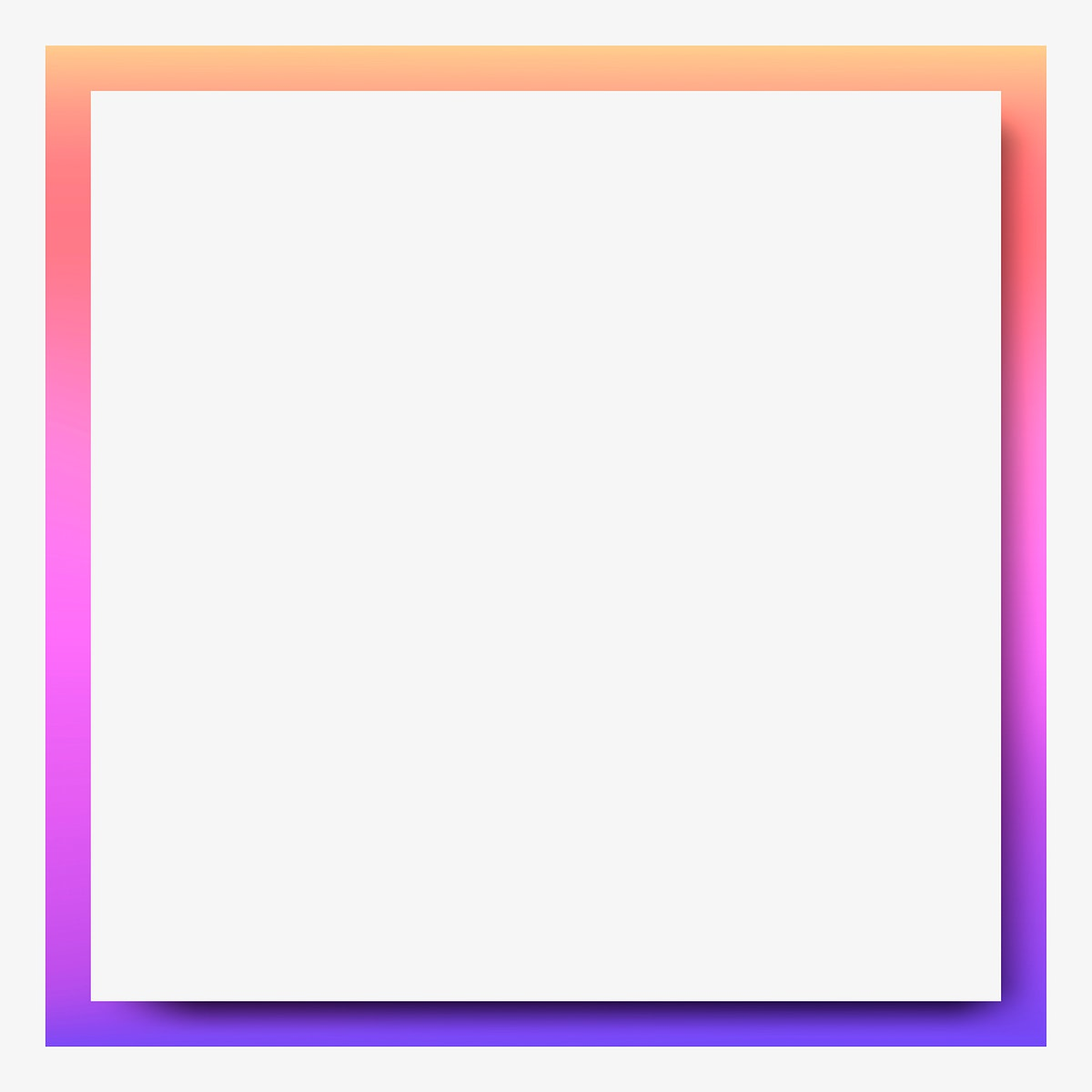 Pink and orange holographic pattern frame background vector