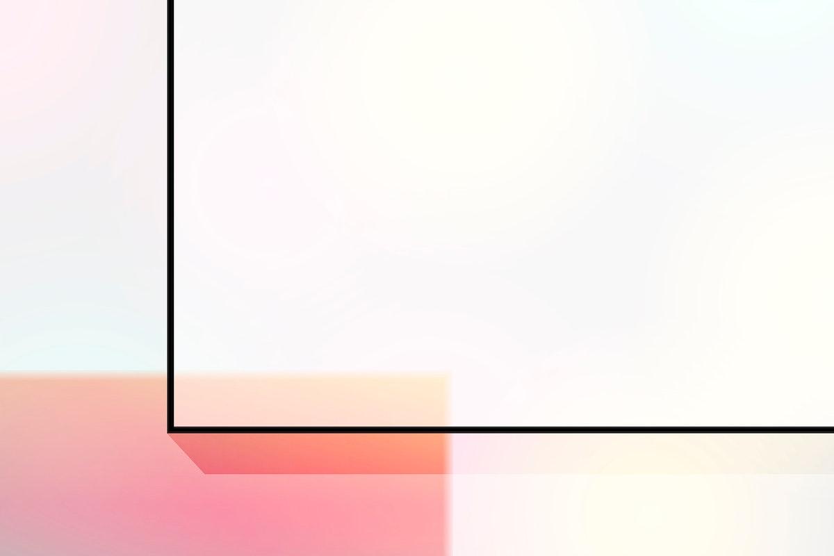 Blank geometric frame design vector