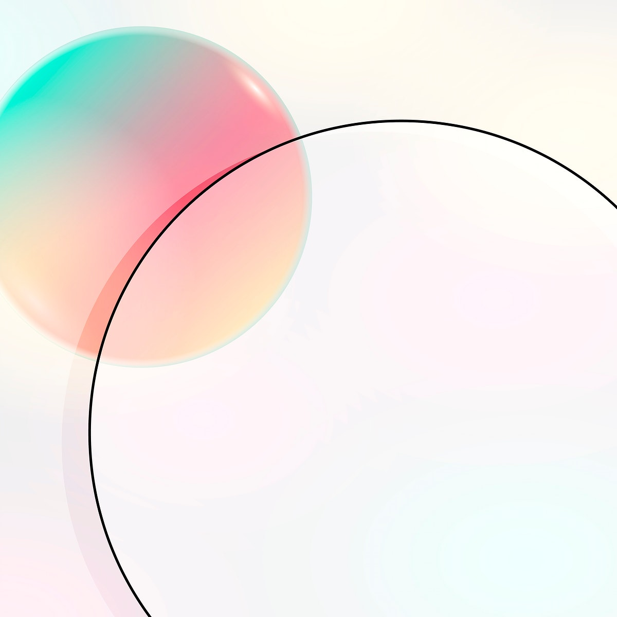 Colorful round geometric frame vector