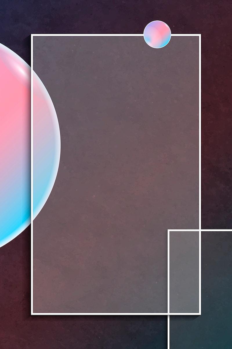 Pink and blue rectangle frame design vector