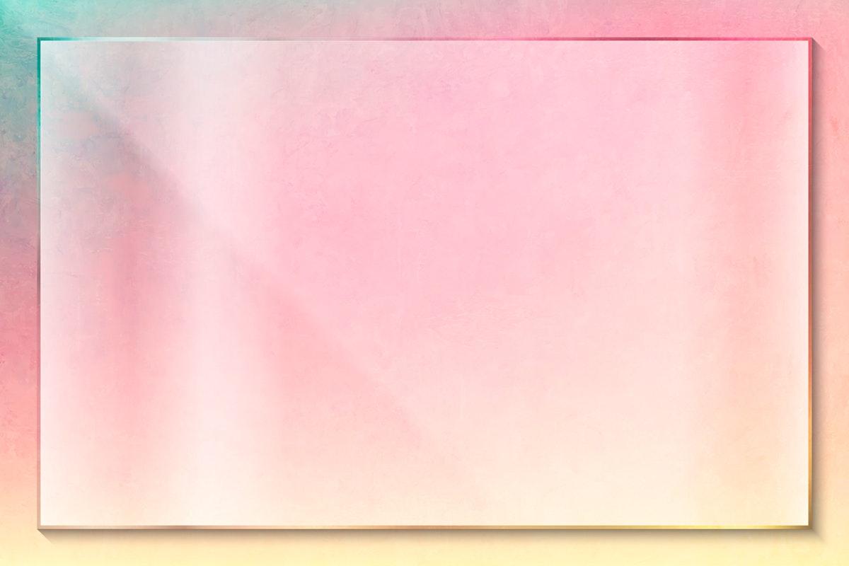 Pink rectangle frame design vector