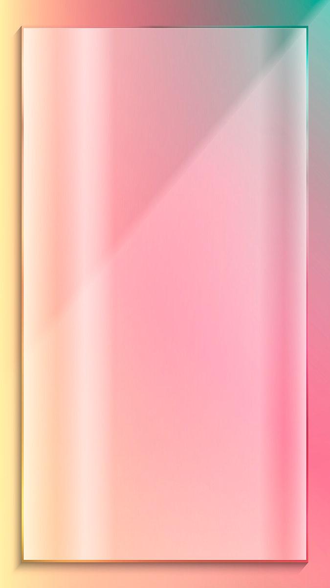 Pink rectangle frame mobile phone wallpaper vector