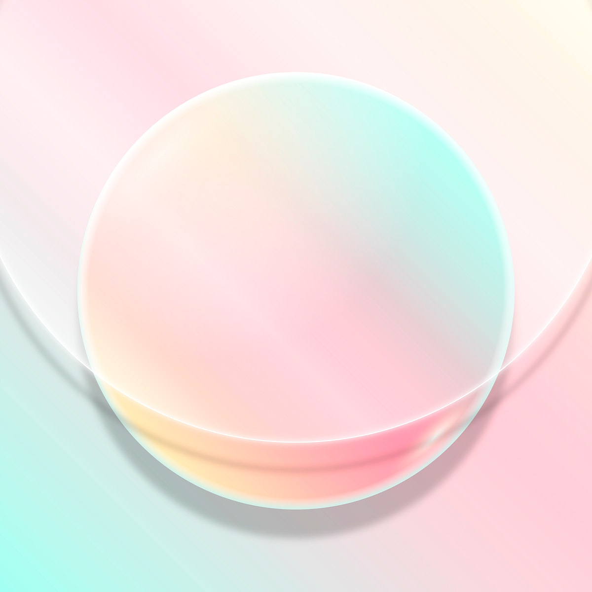 Colorful round frame design vector