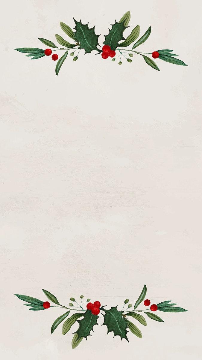 Christmas frame mobile phone wallpaper vector