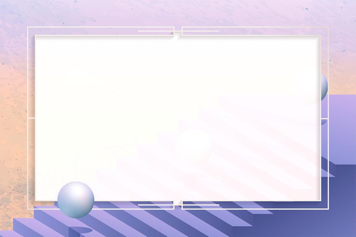 Silver rectangle frame design vector