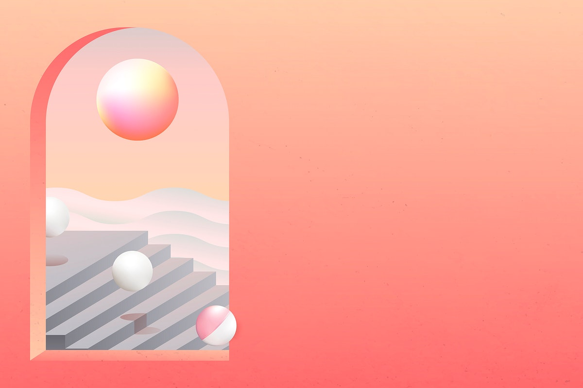 Sunset over gray stairs vector