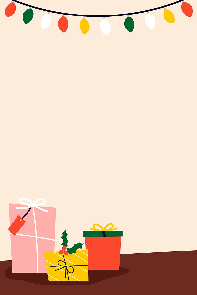 Traditional Christmas presents on the floor vector