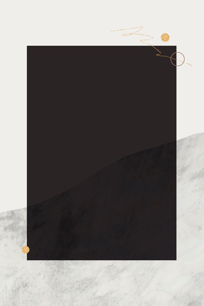 Blank rectangle frame design vector