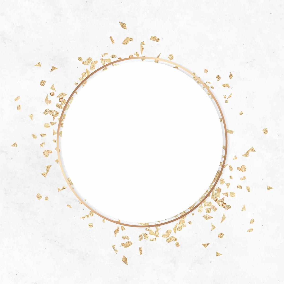 Festive gold frame template vector