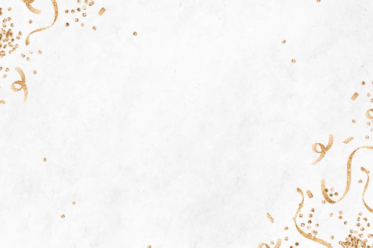 White festive background template vector