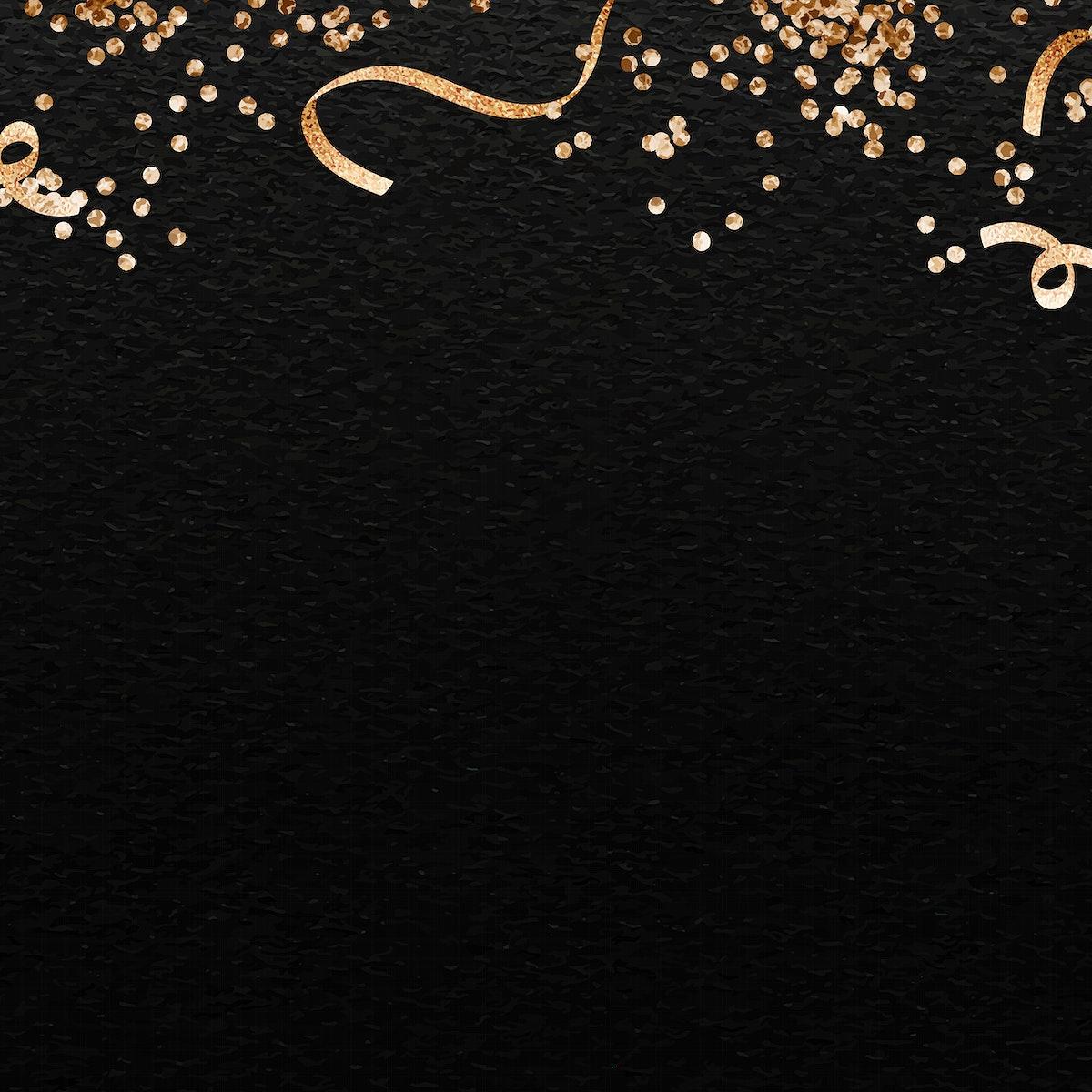 Black festive  background template vector