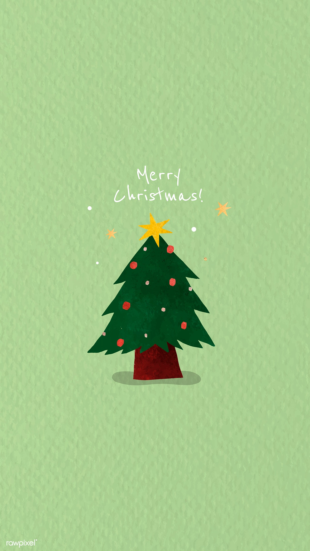 Cute Christmas Backgrounds.Download Premium Image Of Christmas Tree Doodle Background Vector 1227270
