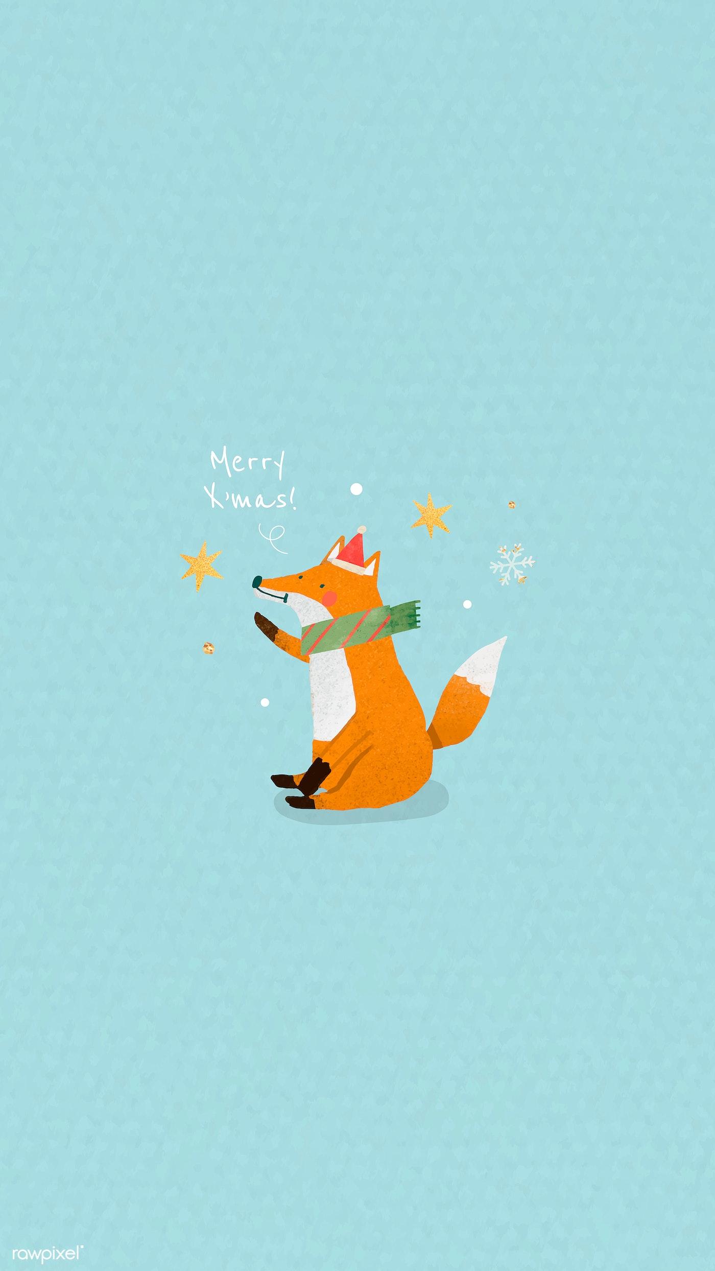 Download Premium Vector Of Fox Doodle Element Mobile Phone Wallpaper