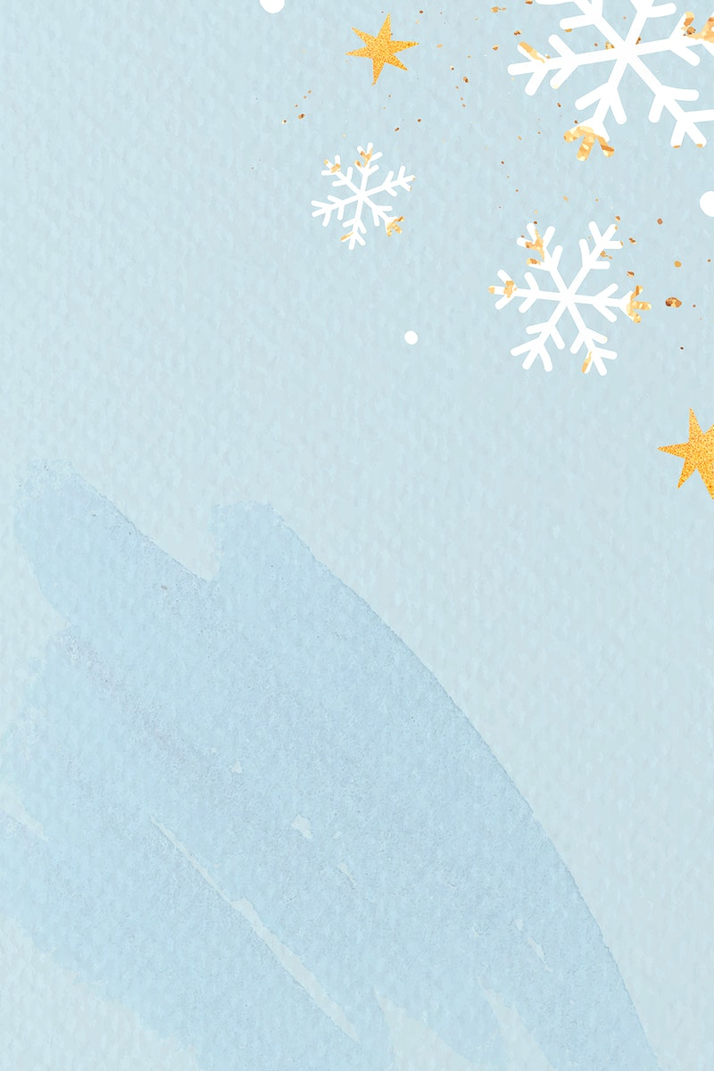 White snowflakes on light blue background vector
