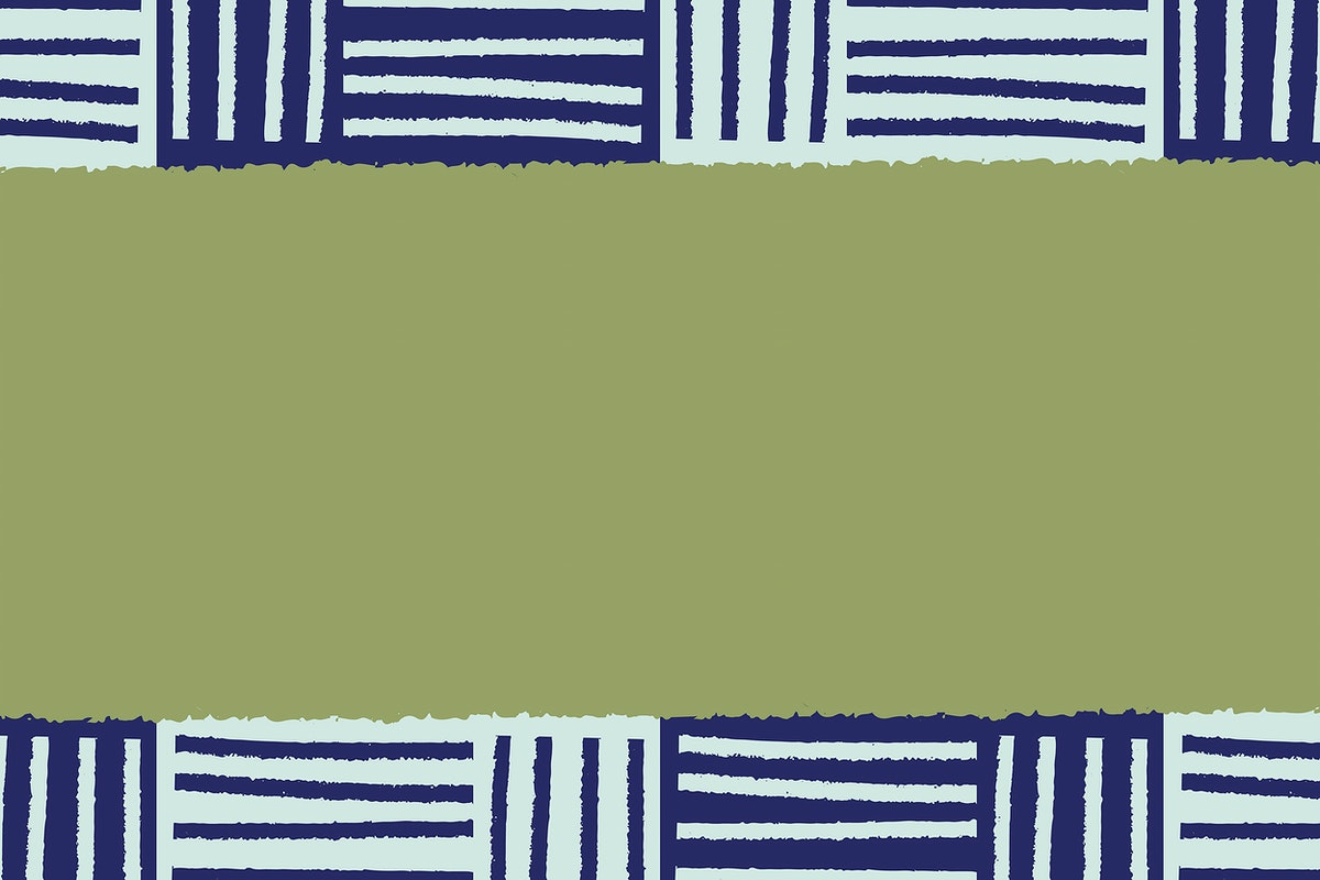 Hand-drawn stripes patterned on green background vector