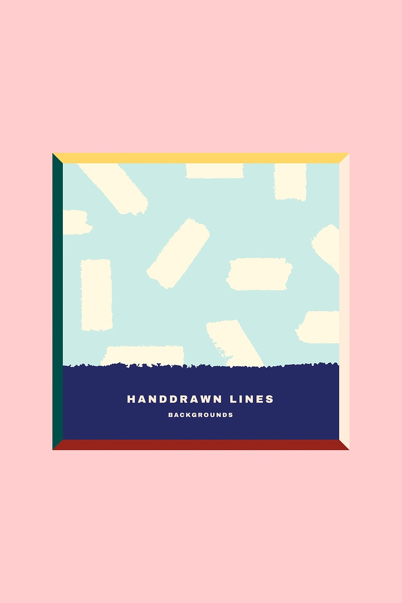 Colorful hand drawn line patterned card vector