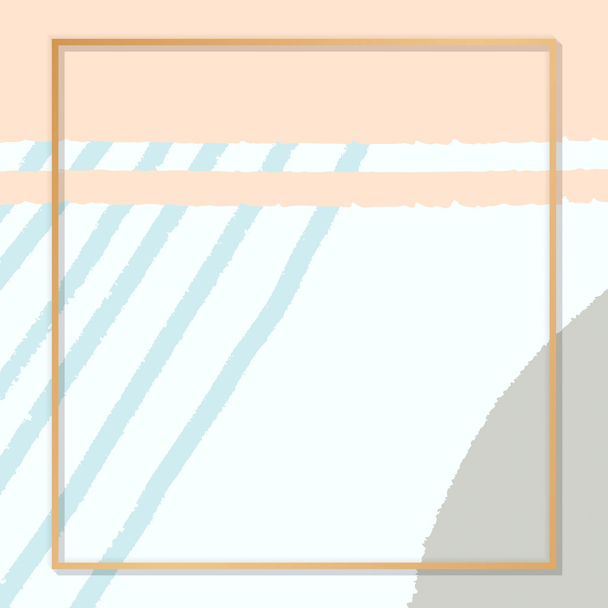 Blank frame on a hand drawn line background vector