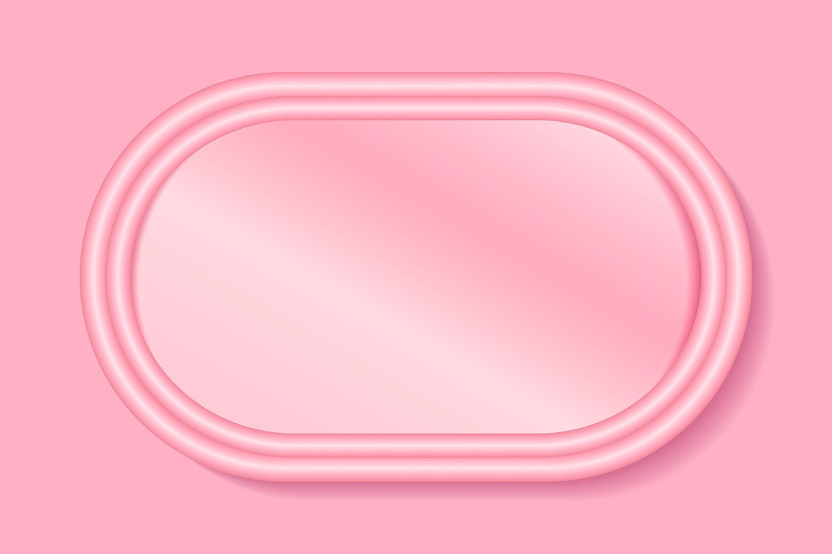 Oval pink frame on a pink background vector