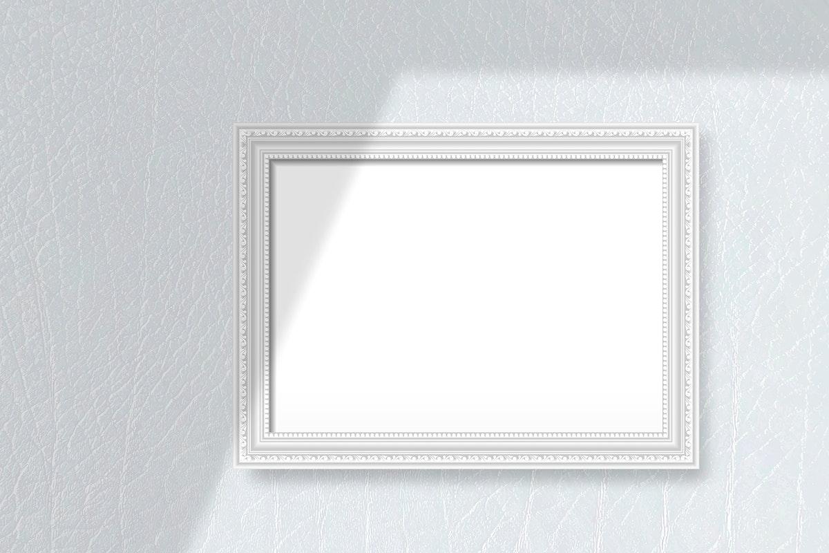Gray frame on a gray wall vector