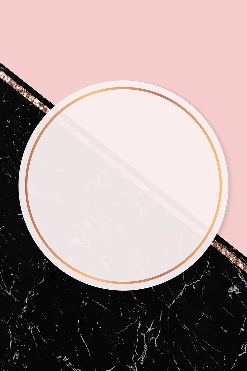 Round frame on two tones background vector
