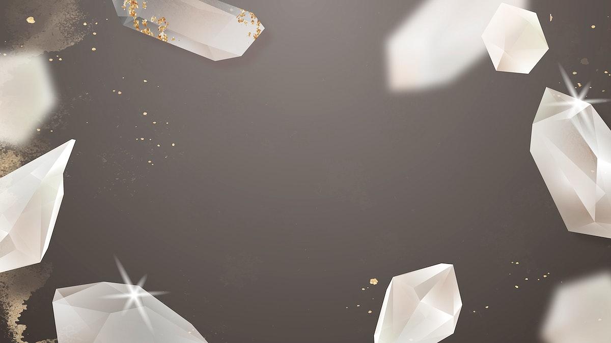 Crystal frame design vector