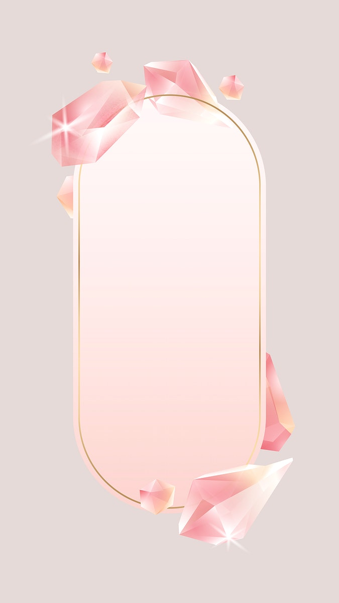 Rectangle crystal frame mobile phone wallpaper vector