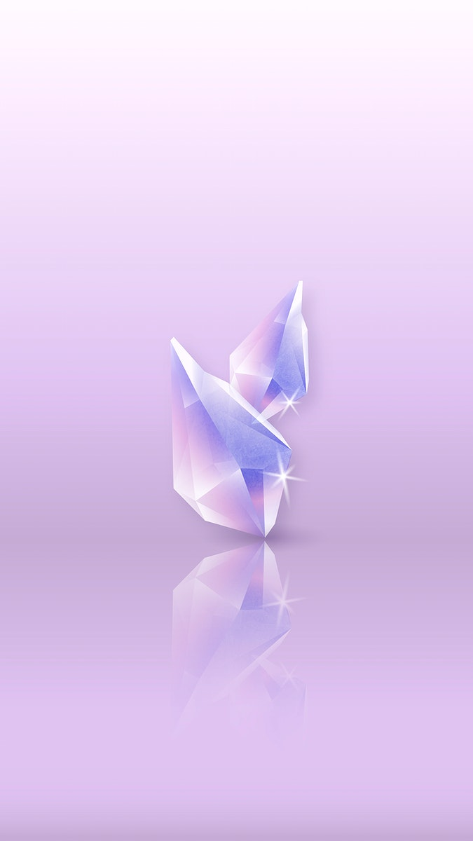 Crystal reflection on a glossy surface mobile phone wallpaper vector