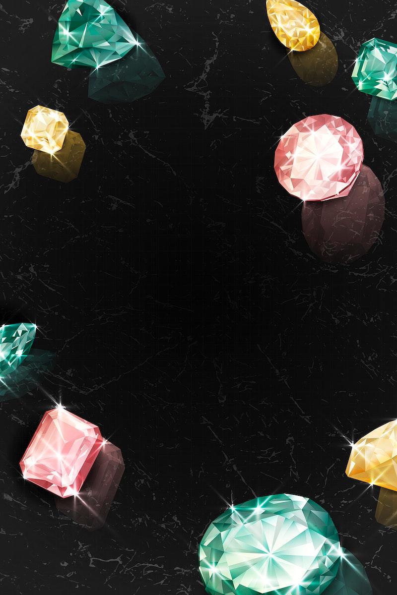 Colorful crystal gem design vector