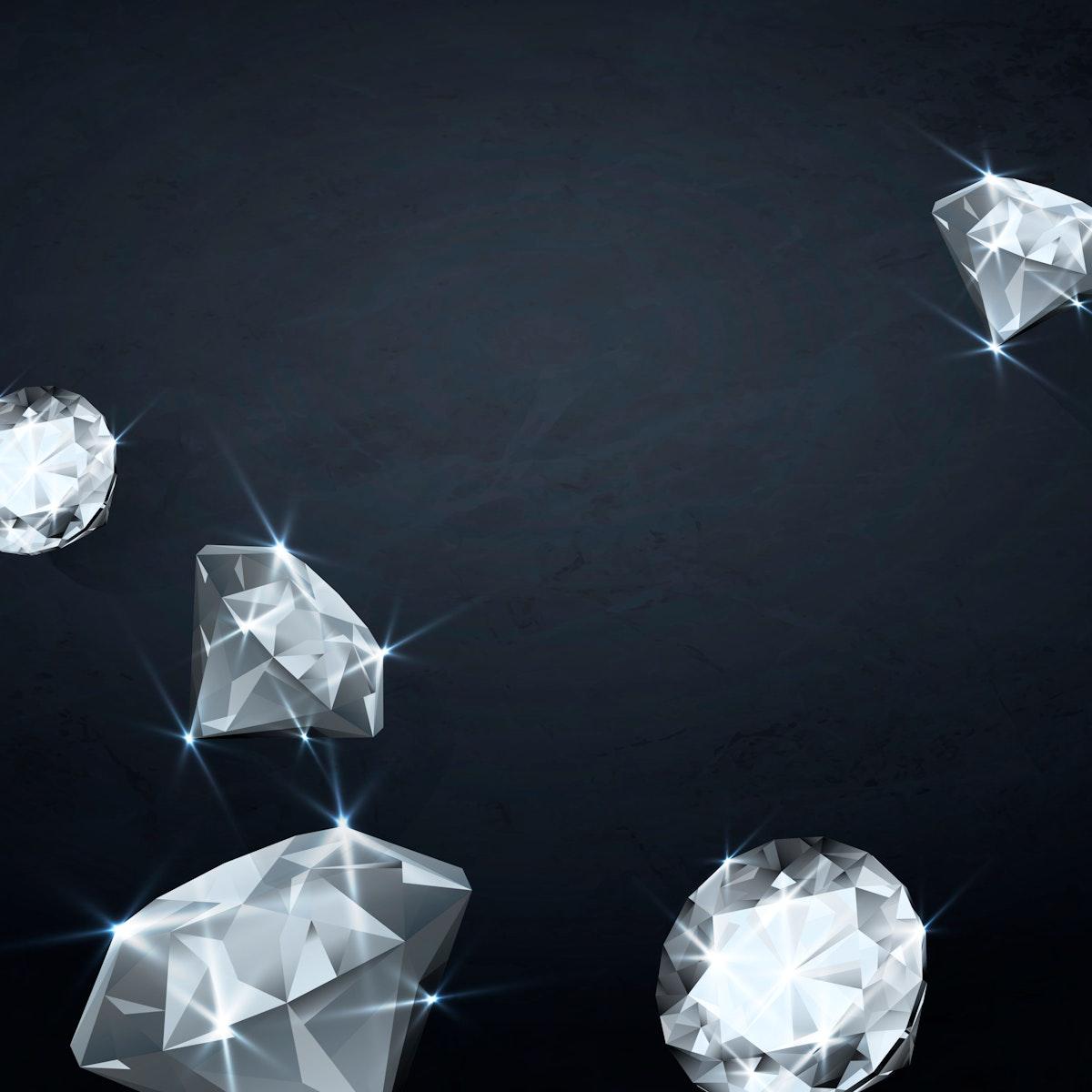 Clear crystal diamond design vector
