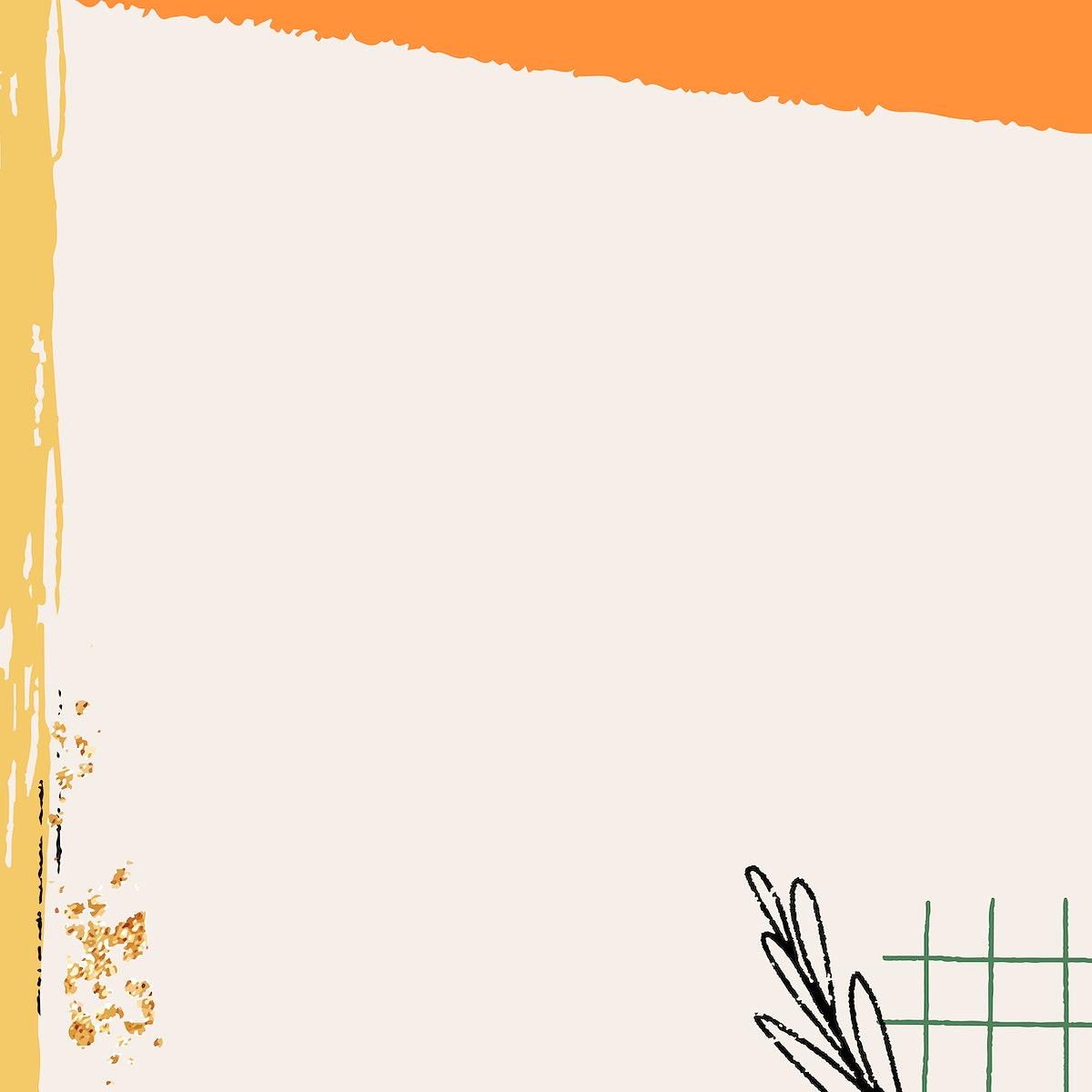 Beige scribble patterned background vector