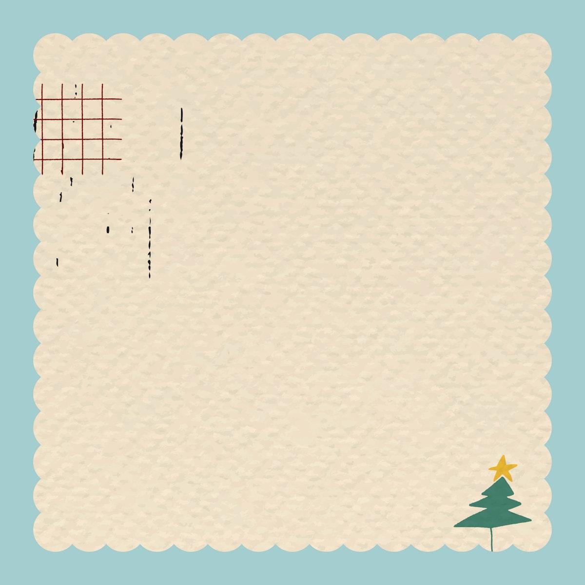 Christmas scribble patterned frame vector