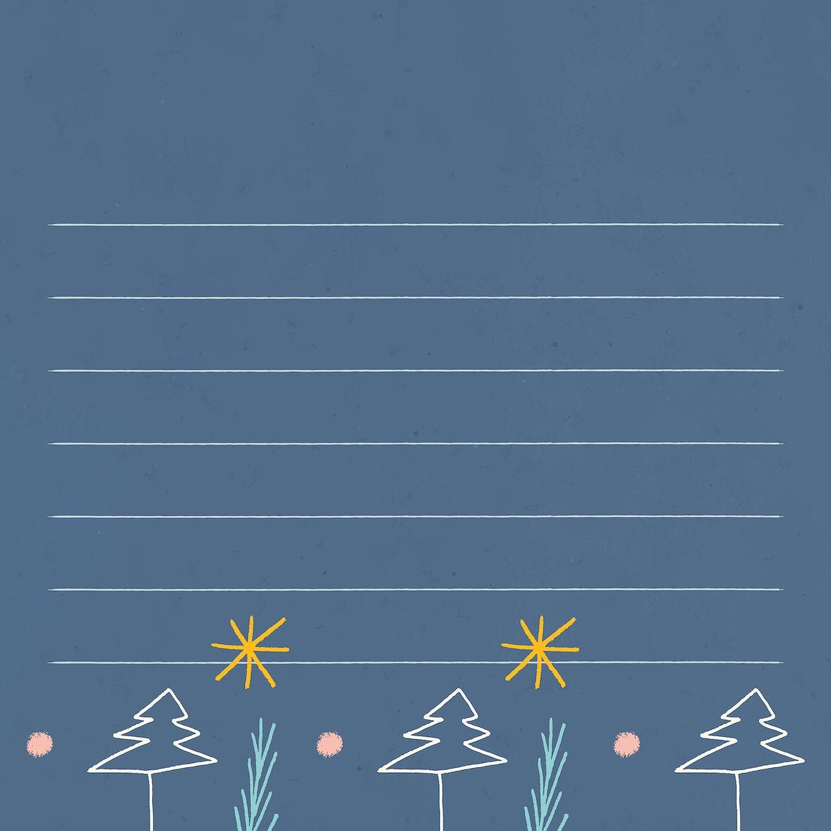 Christmas scribble pattern notepaper vector