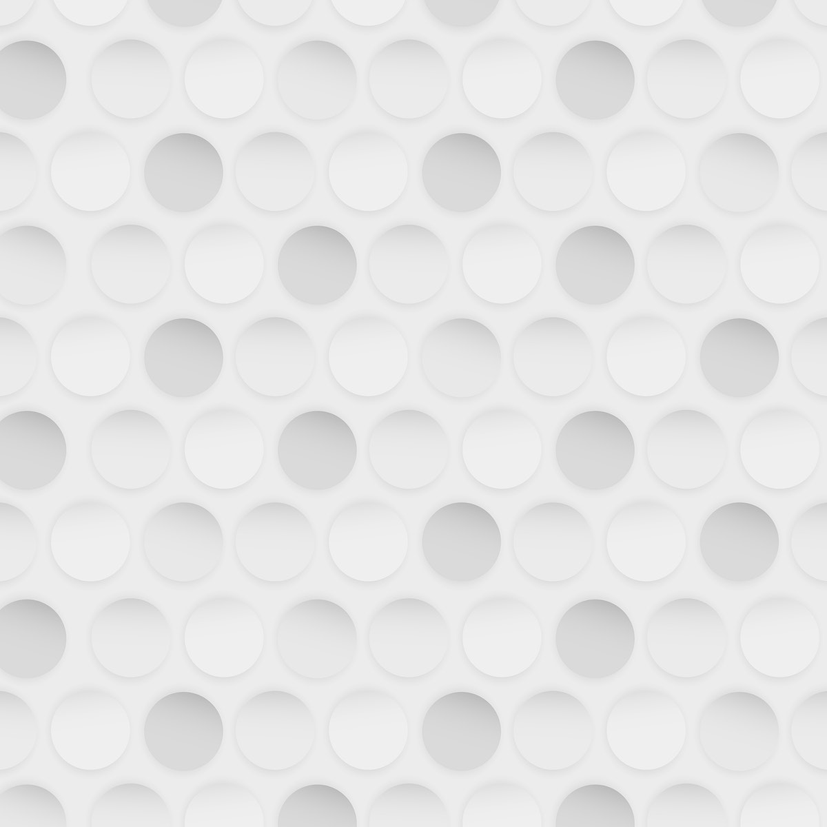 White and gray seamless round pattern vector