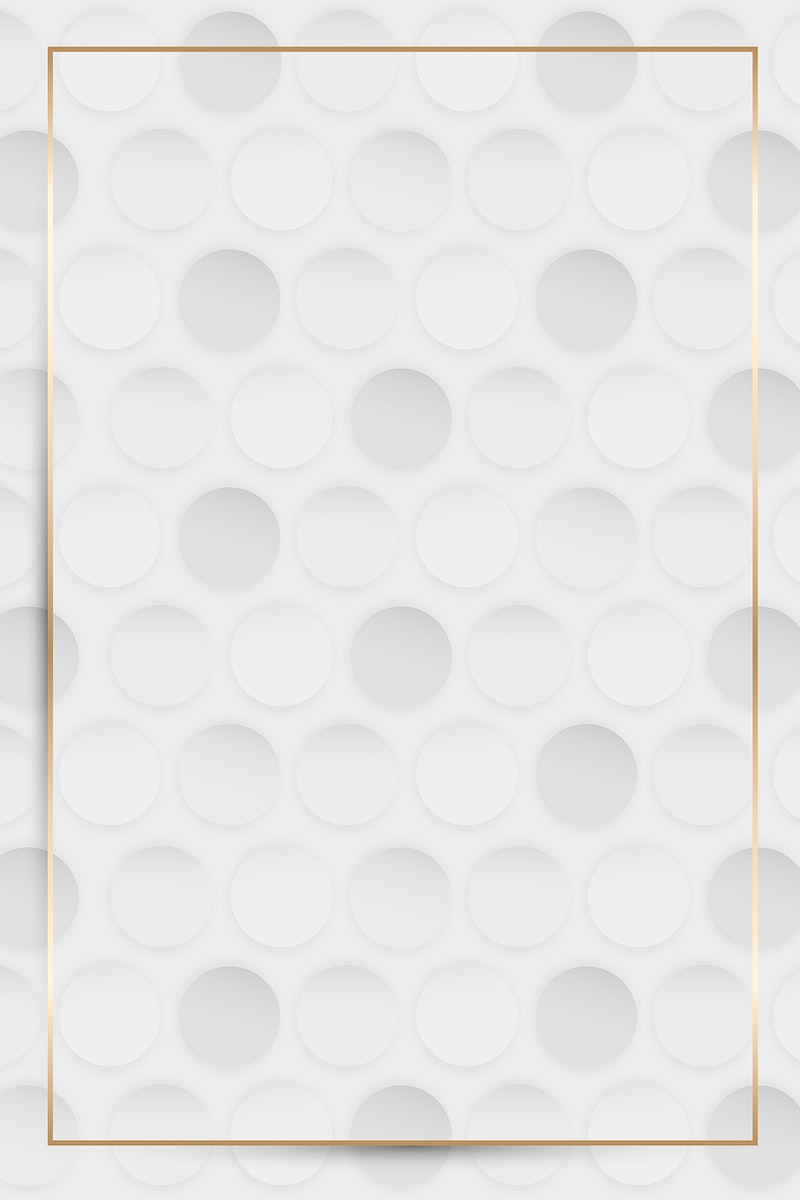 Gold frame on white and gray seamless round pattern vector