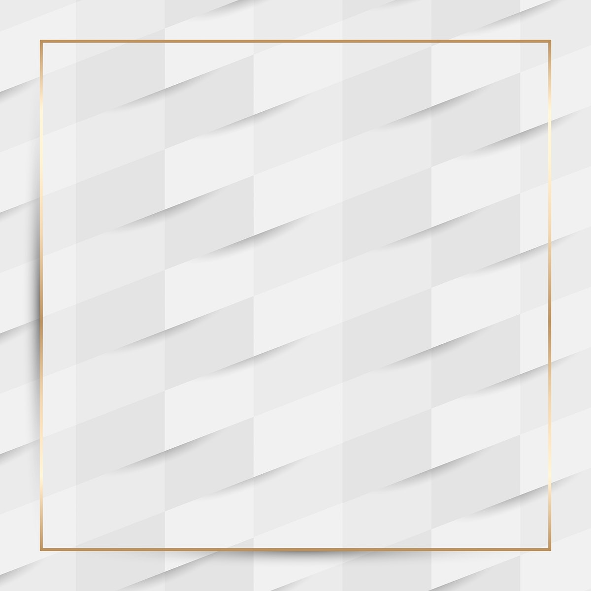 Gold frame on white seamless weave pattern background vector