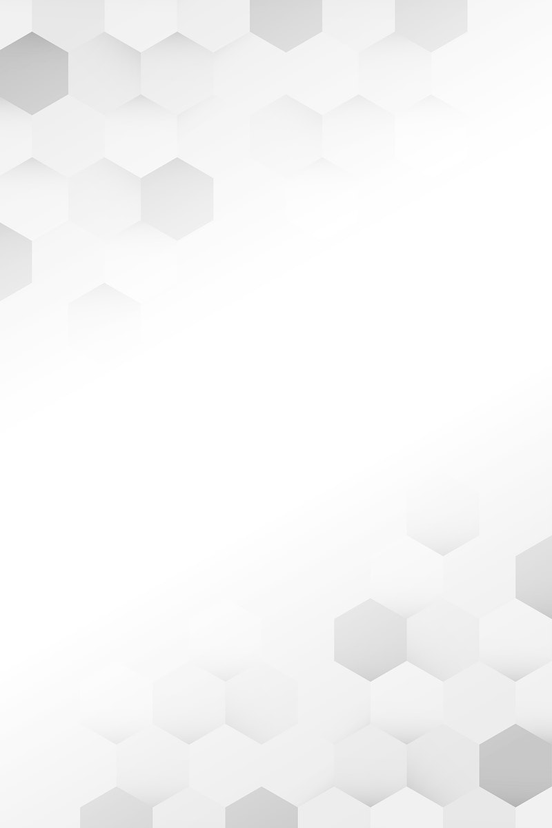 White and gray hexagon pattern background vector