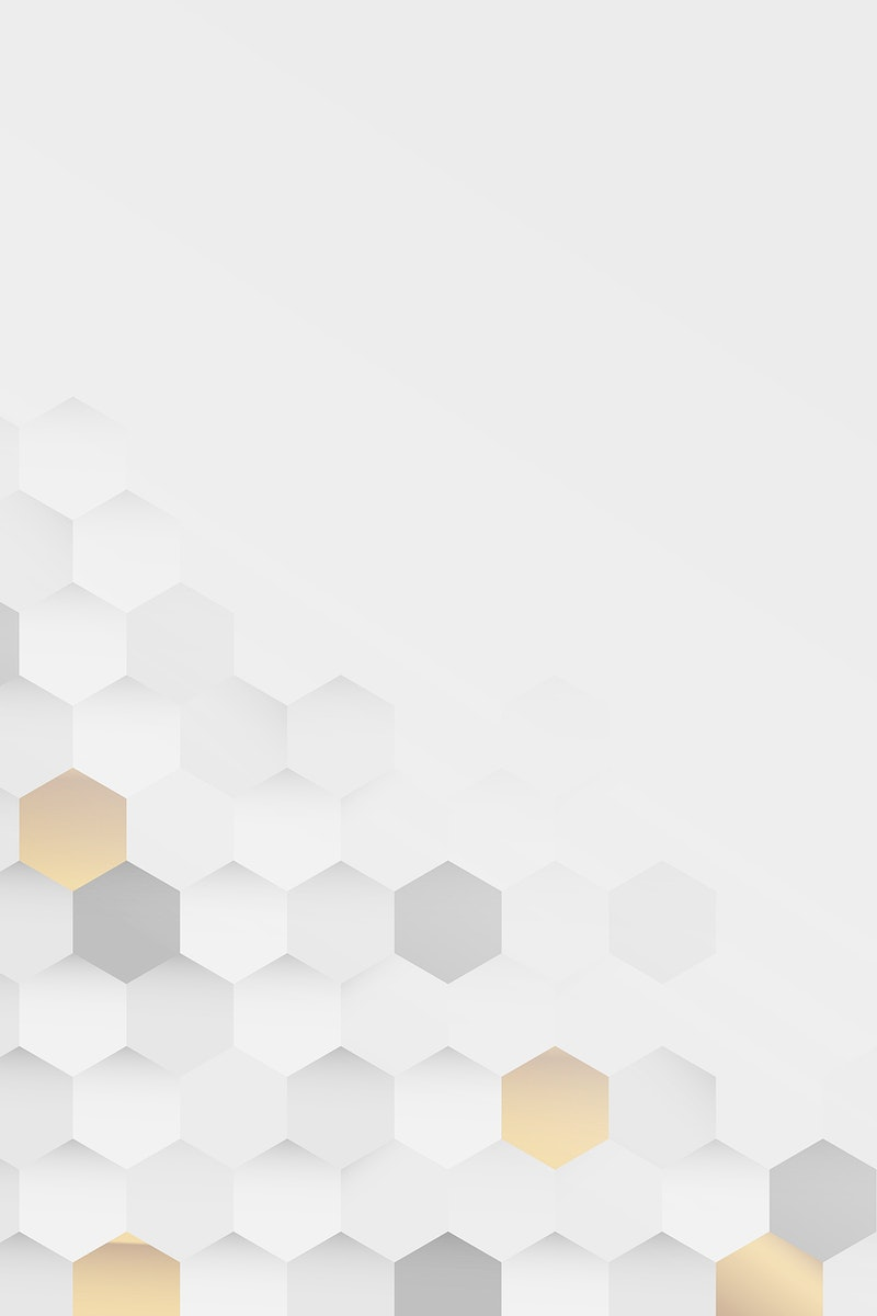 White and gold hexagon pattern background vector