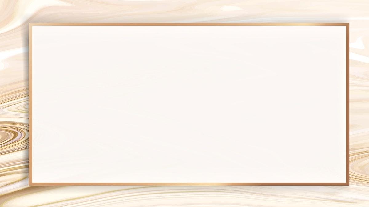 Rectangle golden fluid frame wallpaper vector